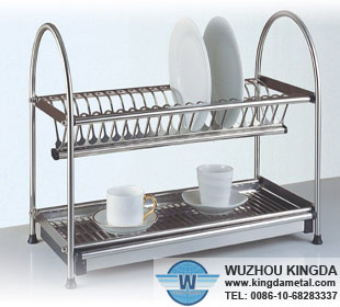 2 Tier Dish Dry Racks-Wuzhou Kingda Wire Cloth Co. Ltd Commercial Kitchen Drying Rack Trays on coffee drying racks, hotel drying racks, industrial drying racks, bakery drying racks, school drying racks, fireplace drying racks, pool drying racks,