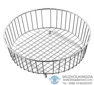 Round White Steel Sink Drainer Basket Material Wire Helps You Quickly Drain Crockery And Gles