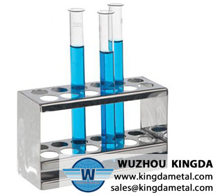 Chemistry stainless test tube rack