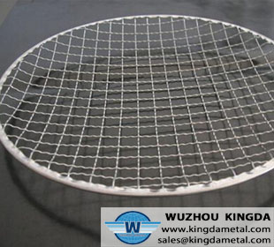 Crimped wire mesh barbecue net