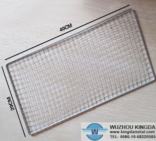 Grill fish mesh netting