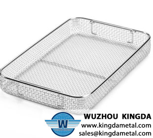 Hospital wire mesh basket