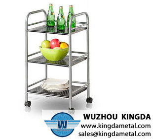 Kitchen metal storage shelf