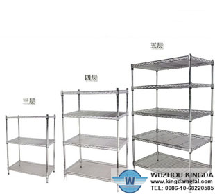 Kitchen metal wire storage shelf