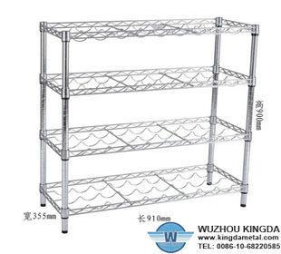 Kitchen wire mesh rack