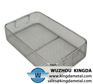 Laboratory cleaning mesh container