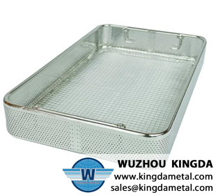 Medical perforated basket for sterilization