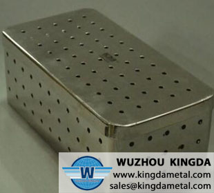 Medical perforated sterilization basket