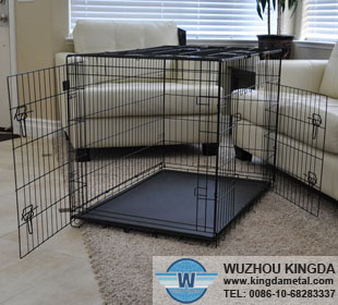 Metal collapsible pet cage