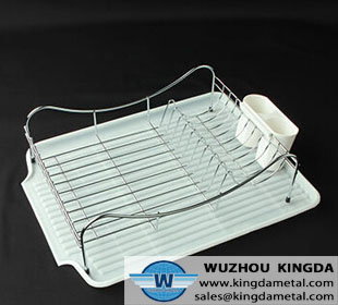 Metal kitchen dish drainer