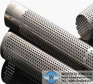 Metal perforated filter tube