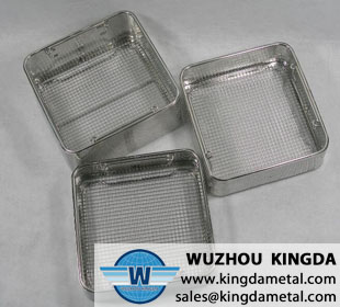 Perforated basket for medical sterilization