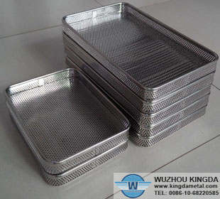 Perforated basket used for sterilization