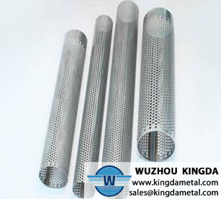 Perforated metal mesh filter tube
