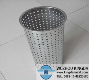 Perforated stainless heat treat baskets