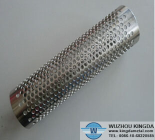 Perforated tube for oil filter