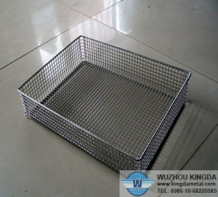 Rectangular stainless steel wire mesh baskets,Rectangular stainless ...