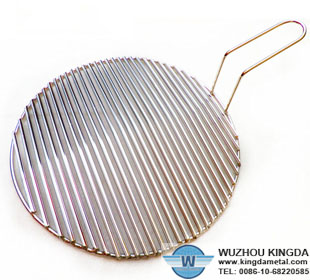 Round barbecue grill wire