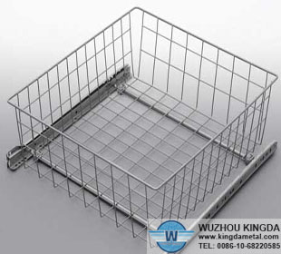 Mesh cleaning tray  Sliding clothes storage wire mesh basket
