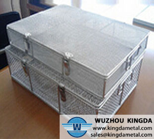 Small Silver Stainless Steel Wire Metal Basket
