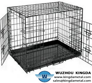 Stainless animal cage element