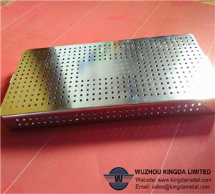 Stainless medical perforated antisepsis tray