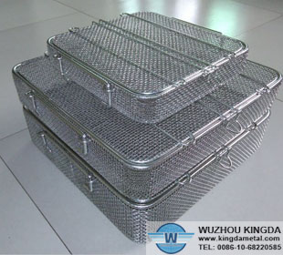 Stainless steel wire mesh instrument trays
