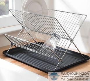 Wire Dish Rack   Steel Folding Dish Rack Steel Folding Dish Rack Supplier Wuzhou
