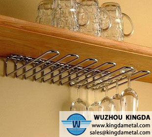 Wall mounted glass hanger