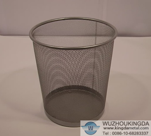 Wire Waste Paper Basket Mesmerizing With Wire Mesh Wastebasket Pictures