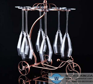 Wire champagne flute holder