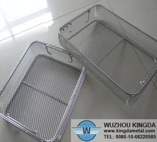 Wire mesh antisepsis tray