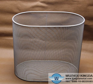 Wire mesh trash bins