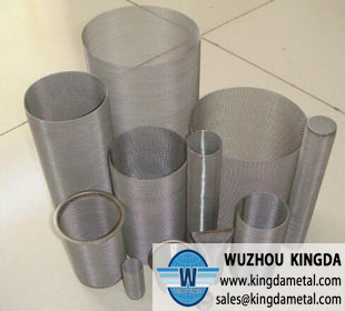 Wire screen mesh tube