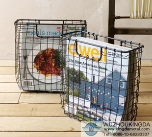 Wire Mesh Magazine Holder Woven Wire Magazine HolderWoven Wire Magazine Holder Supplier 15