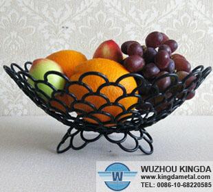 Black Metal Fruit Basket Black Metal Fruit Basket
