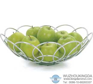 chrome plated wire fruit basket