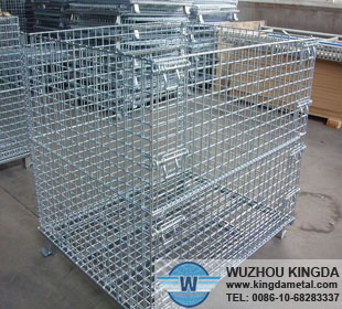 Collapsible mesh cage