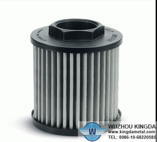 Hydraulic suction oil filter elements