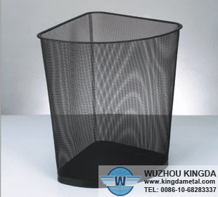 Metal corner triangle wastebasket metal corner triangle wastebasket manufacturer wuzhou kingda - Corner wastebasket ...