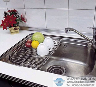 Metal Over Sink Dish Drainer