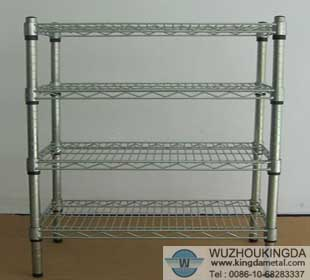 Metal Wire Shelves   Chrome Wire Shelving Heavy Duty Shelf Wuzhou Kingda Wire Cloth Co Ltd