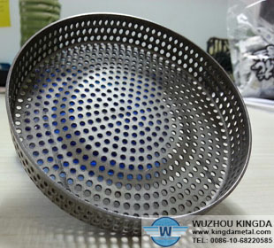 Perforated stainless circle