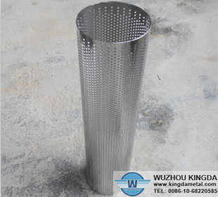 Perforated round tube