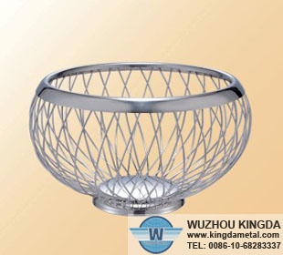 Round stainless steel basket