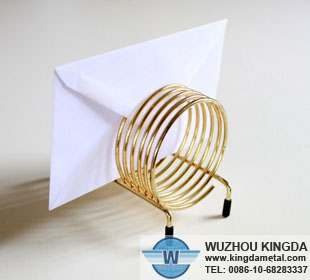 Spiral Golden Metal Letter Holder Spiral Golden Metal Letter Holder Manufacturer