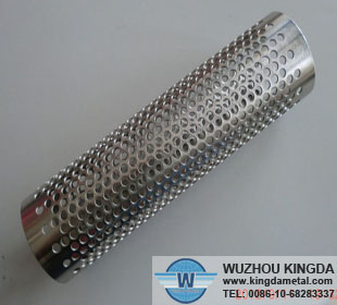 Stainless perforated filter tube