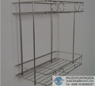 Stainless Steel Bathroom Storage Rack