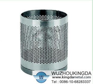 Stainless Steel Perforated Trash Bin Stainless Steel