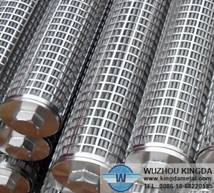 Stainless steel pleated polymer filter element